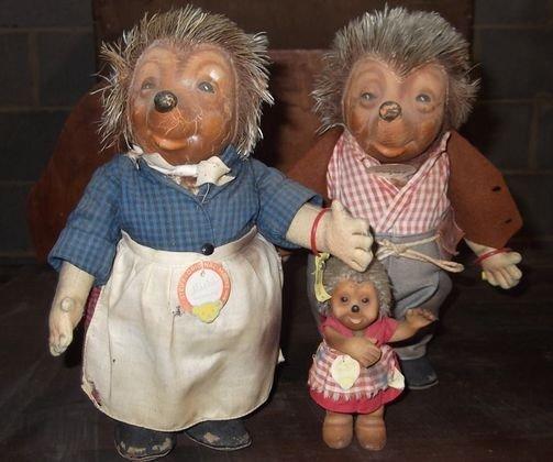 16: set of 3 early Steiff dolls