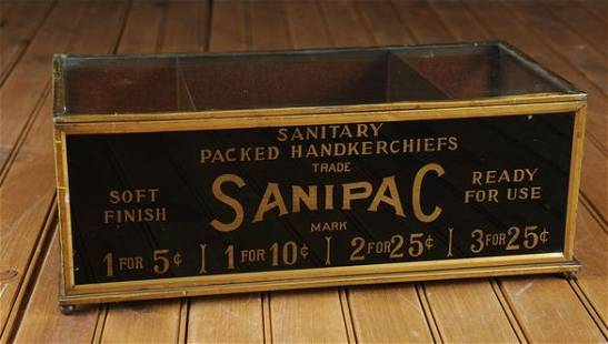 Santipac Store Display. Reverse Printed.