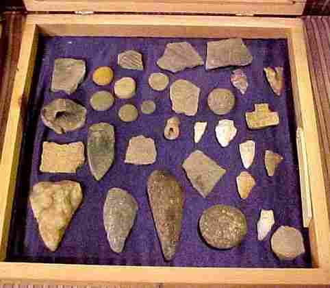 18: INDIAN ARTIFACTS from the Tugaloo River Dig of 1957