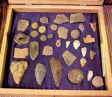 INDIAN ARTIFACTS from the Tugaloo River Dig of 1957