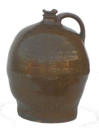 "8: ""Dave the Slave"" signed LM 2 gal Edgefield jug"