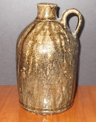 "19: Quart Crawford Co Ga. Jug marked ""E"""