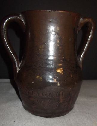 1: LQ Meaders double handle vase 1926 Dated.