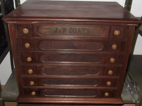 2: JP Coats spool cabinet