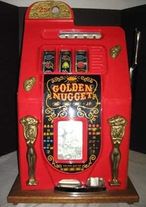 Vintage Golden Nugget quarter slot machine