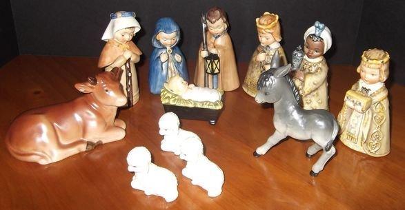 13: Hummel Nativity figurines