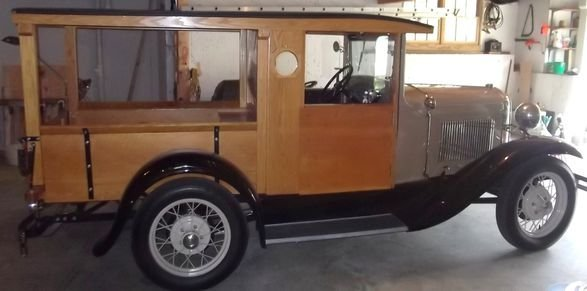 14: 1930 Ford model T Huckster pickup truck