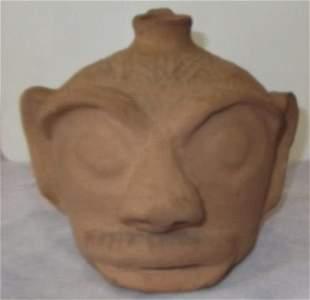 Arie Meaders unglazed face jug