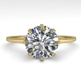 2 CTW VS/SI DIAMOND SOLITAIRE ENGAGMENT RING 18K SIZE 7