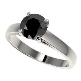 1.50 CTW Fancy Black VS Diamond Bridal Solitaire