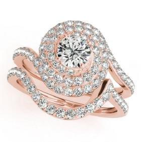 1.88 CTW Certified VS/SI Diamond 2pc Wedding Set