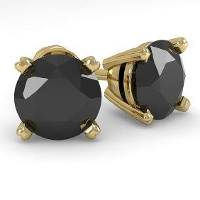 2.0 CTW BLACK CERTIFIED DIAMOND STUD EARRING 18K  Gold