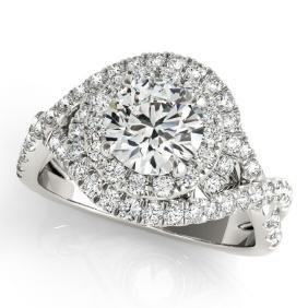 1.75 CTW Certified VS/SI Diamond Bridal Solitaire Halo