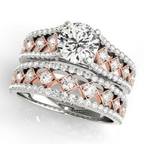 2.01 CTW Certified VS/SI Diamond Solitaire 2pc Set  14K