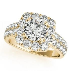 2.5 CTW Certified VS/SI Diamond Bridal Solitaire Halo