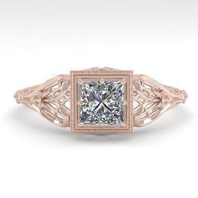 .50 CTW VS/SI PRINCESS DIAMOND SOLITAIRE ENGAGMENT RING