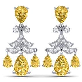 10.41 CTW Royalty Canary Citrine & VS Diamond Earring