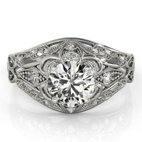 0.87 CTW Certified VS/SI Diamond Solitaire Bridal Ring