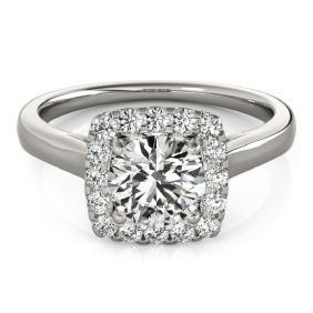 1.37 CTW Certified VS/SI Diamond Bridal Solitaire Halo