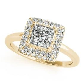 1.6 CTW Certified VS/SI Princess Diamond Solitaire Halo