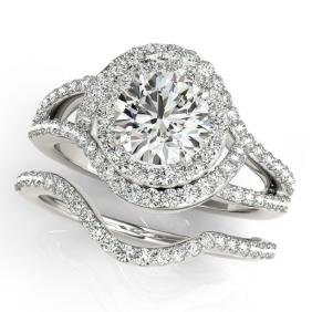 1.92 CTW Certified VS/SI Diamond 2Pc Wedding Set