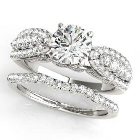 1.71 CTW Certified VS/SI Diamond Solitaire 2Pc Wedding