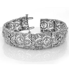 8.0 CTW Certified VS/SI Diamond Bracelet 14K White Gold