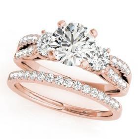 1.71 CTW Certified VS/SI Diamond 3 Stone 2Pc Set