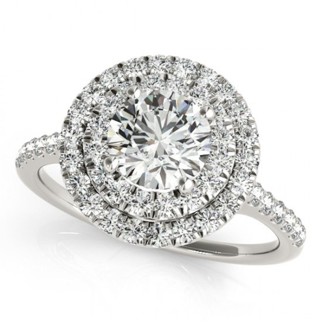 1.45 CTW Certified VS/SI Diamond 2Pc Set Solitaire Halo