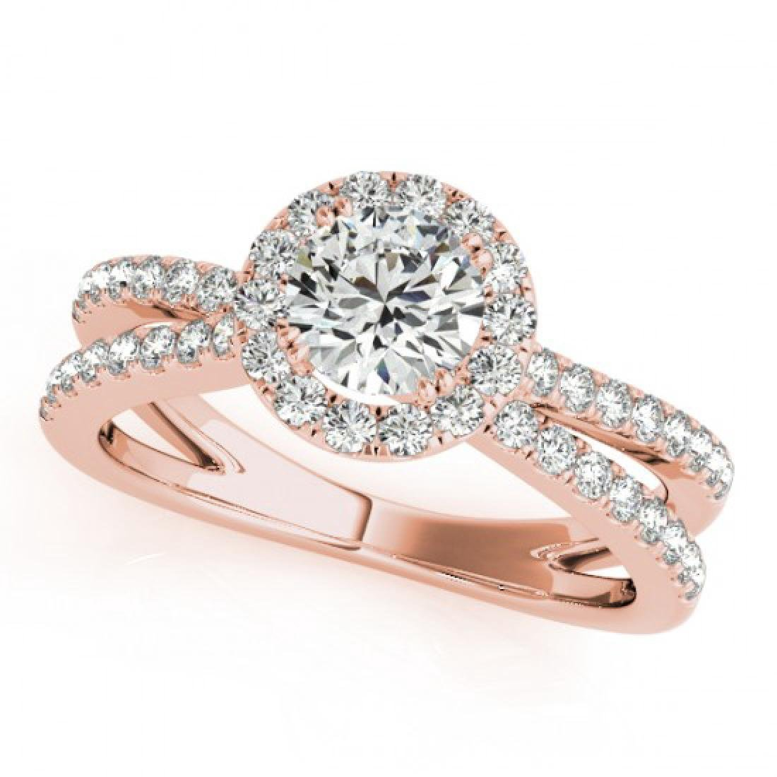 2 CTW Certified VS/SI Diamond Solitaire Halo Ring 18K