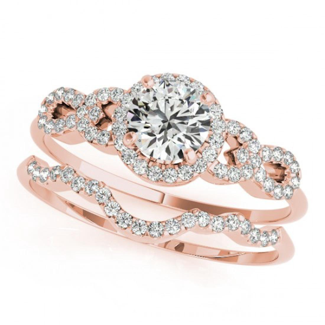 1.43 CTW Certified VS/SI Diamond Solitaire 2Pc Wedding