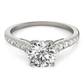 0.92 CTW Certified VS/SI Diamond Solitaire Ring 18K