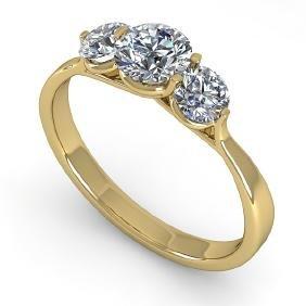 1 CTW Past Present Future Certified VS/SI Diamond Ring