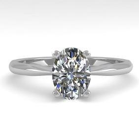 1.01 CTW Oval Cut VS/SI Diamond Engagement Designer