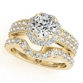 1.19 CTW Certified VS/SI Diamond 2Pc Wedding Set