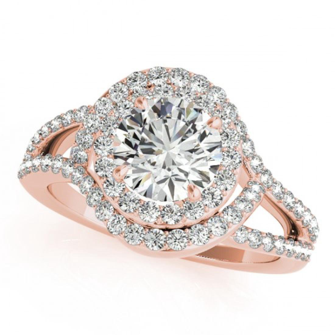 1.9 CTW Certified VS/SI Diamond Solitaire Halo Ring 18K