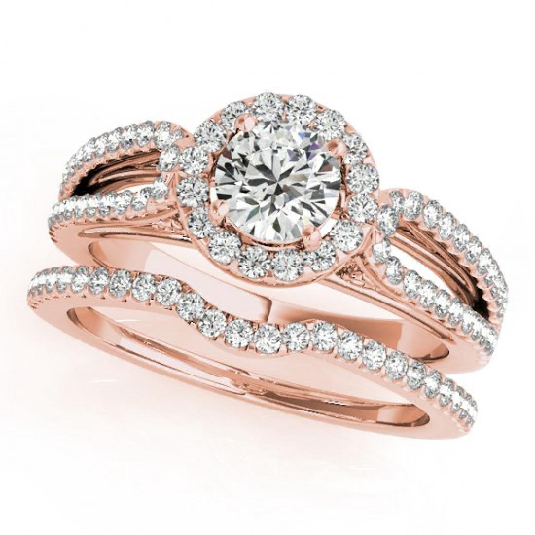 0.96 CTW Certified VS/SI Diamond 2Pc Wedding Set