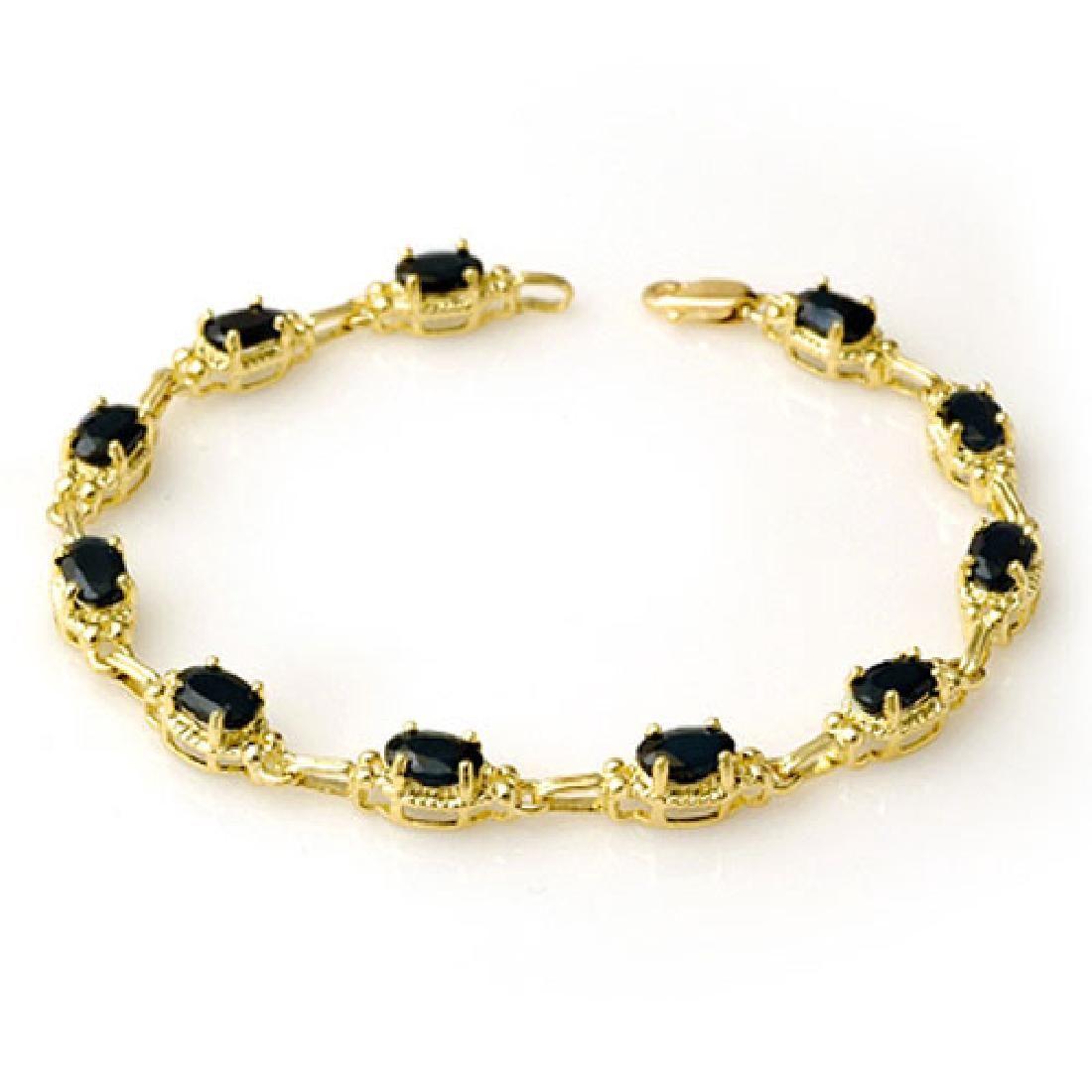 733 CTW Blue Sapphire Bracelet 10K Yellow Gold
