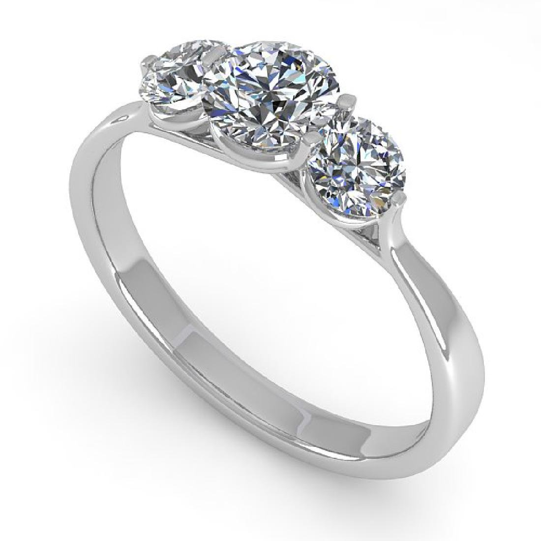 1 CTW Past Present Future Certified VS/SI Diamond Ring