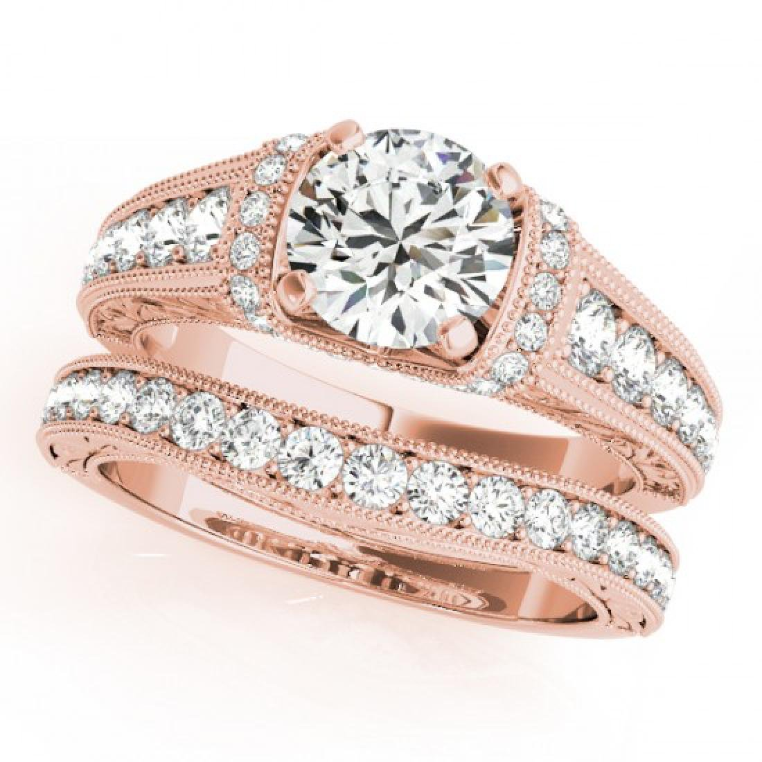1.61 CTW Certified VS/SI Diamond Solitaire 2Pc Wedding