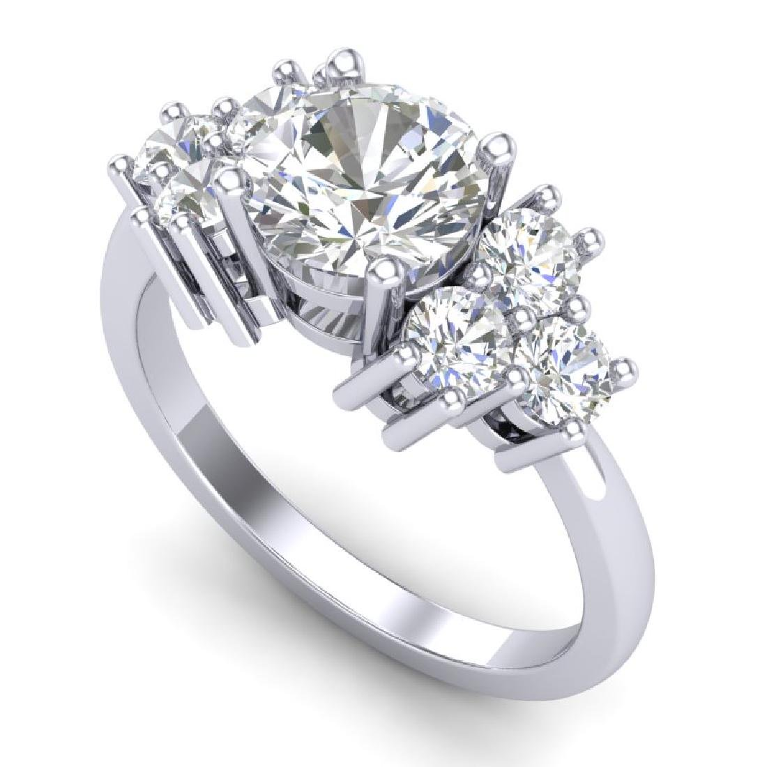 2.1 CTW VS/SI Diamond Solitaire Ring 18K White Gold