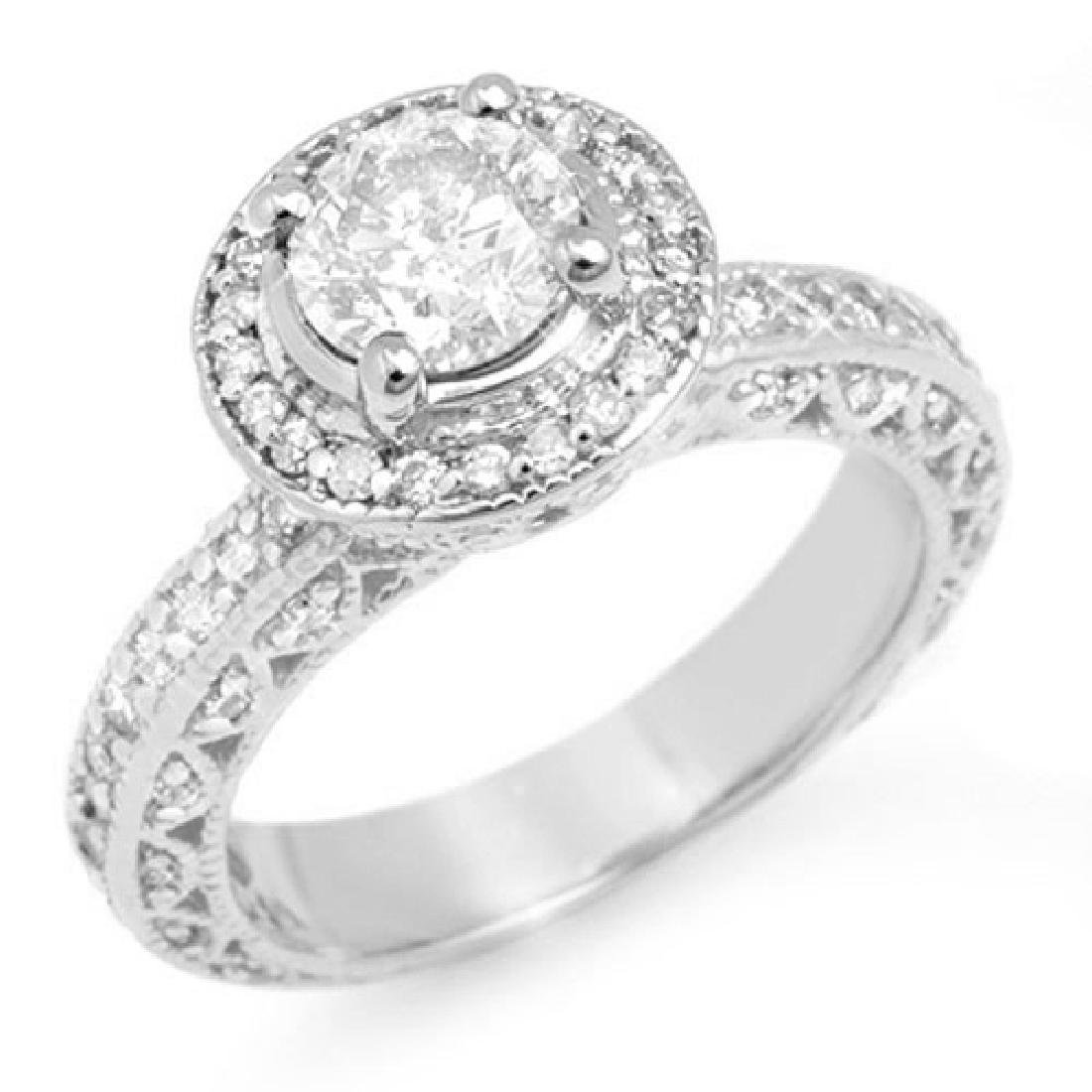 2.0 CTW Certified VS/SI Diamond Ring 18K White Gold
