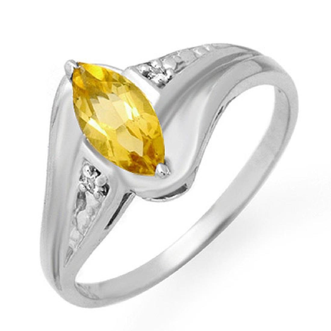 0.36 CTW Citrine & Diamond Ring 10K White Gold