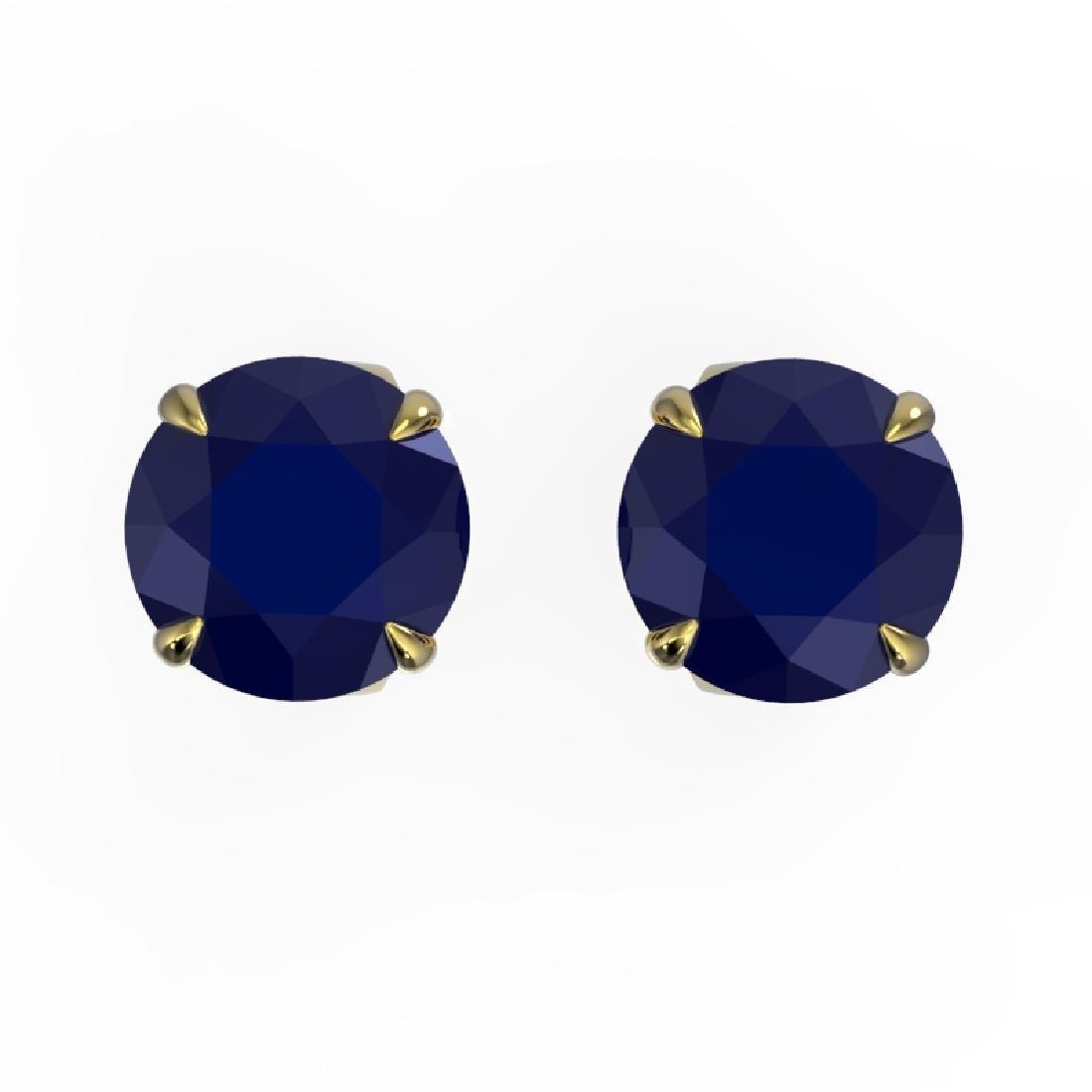 4 CTW Sapphire Designer Inspired Solitaire Stud