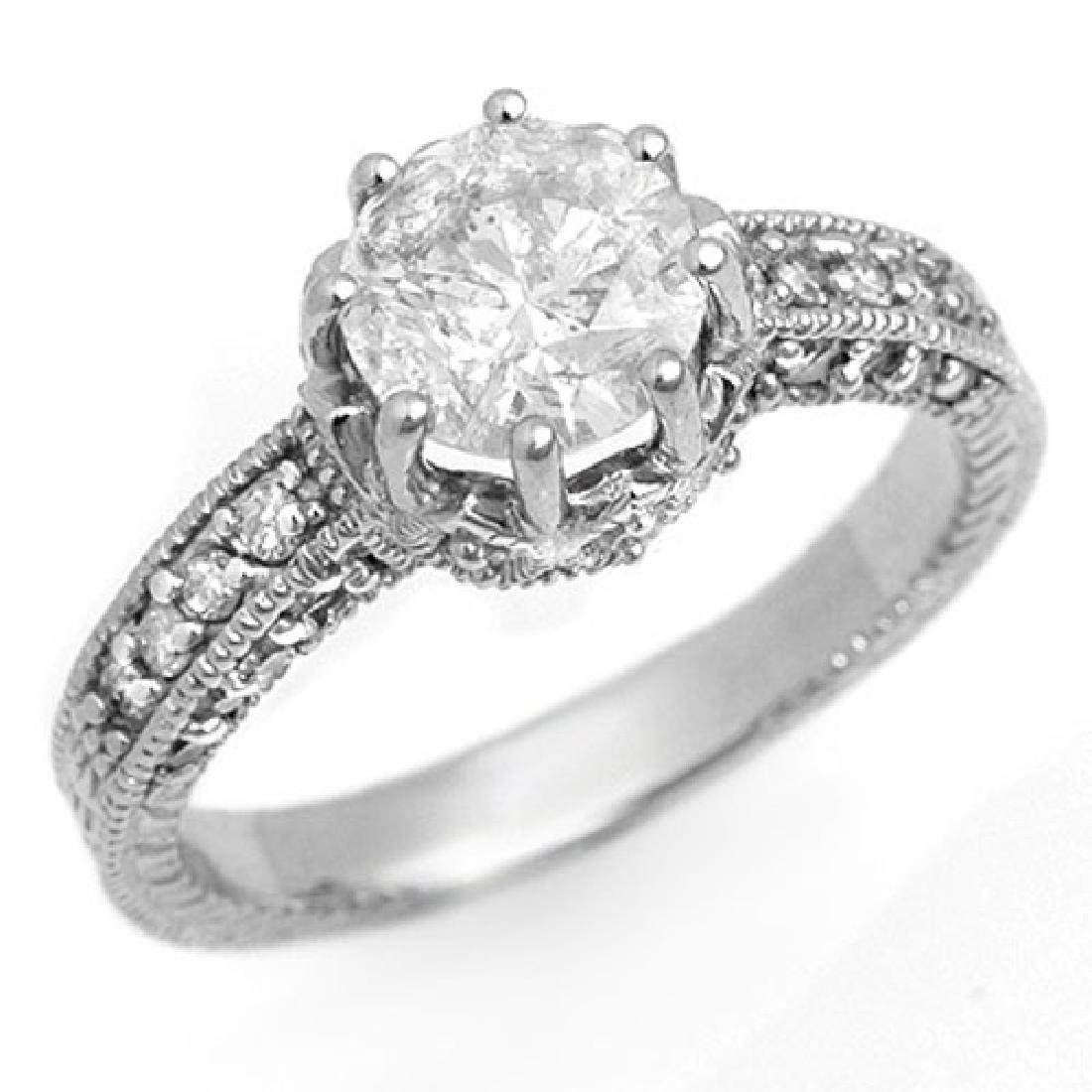 1.75 CTW Certified VS/SI Diamond Solitaire Ring 18K