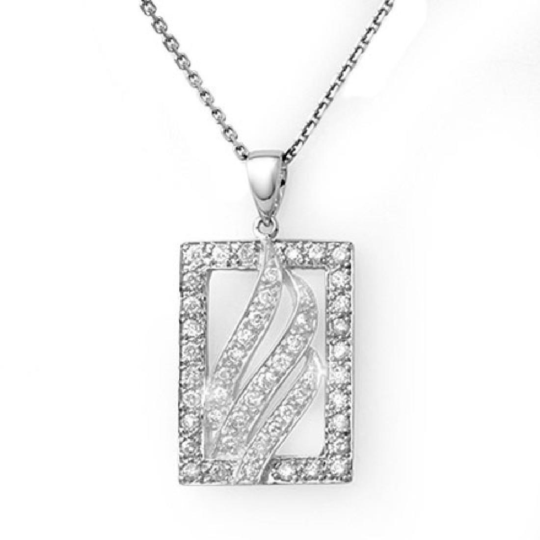 0.45 CTW Certified VS/SI Diamond Necklace 18K White