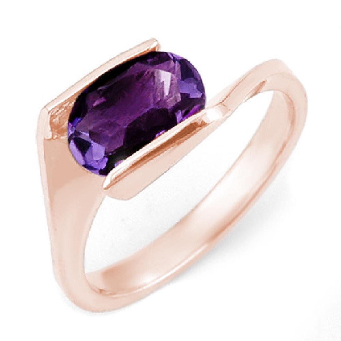2.0 CTW Amethyst Ring 10K Rose Gold