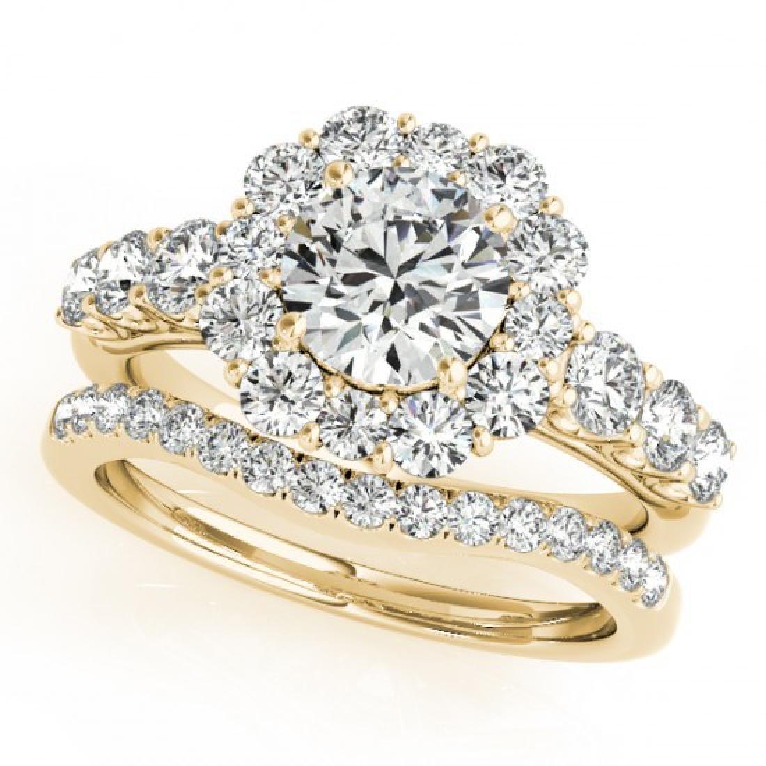 3.16 CTW Certified VS/SI Diamond 2Pc Wedding Set