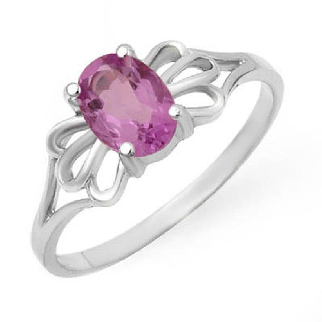 0.75 CTW Amethyst Ring 10K White Gold