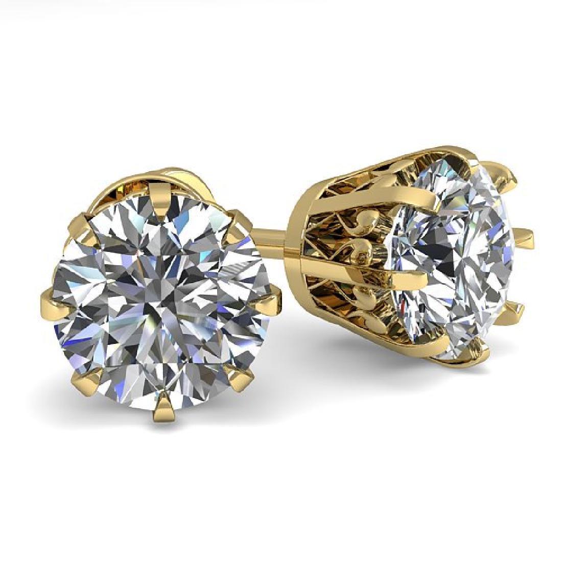 2.0 CTW VS/SI Diamond Stud Solitaire Earrings 18K